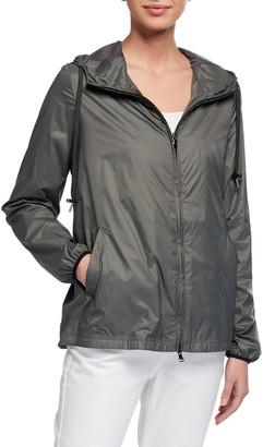 Anatomie Astra Zip-Front Hooded Wind-Resistant Jacket