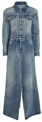 MM6 MAISON MARGIELA Split-Hem Denim Maxi Dress