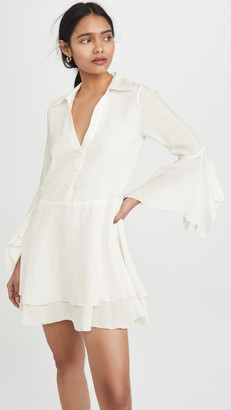 Alice + Olivia Priscilla Button Down Shirt Dress