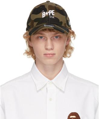 BAPE Khaki Camo 1st STA New Era Cap