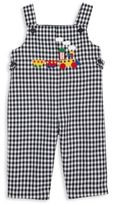 Florence Eiseman Baby's Train Applique Gingham Overalls