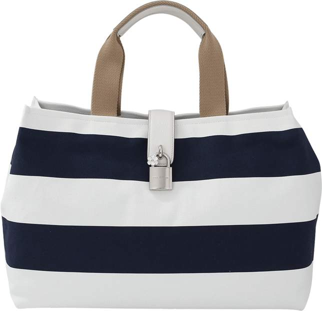 Dolce & Gabbana Canvas Striped Shopper
