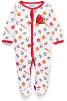 Sweet & Soft Red Football Footie - Infant