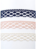 INC International Concepts 3-Pc. Set Crocheted Choker Necklaces, Only at Macy's