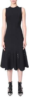 Alexander McQueen Flared Midi Dress