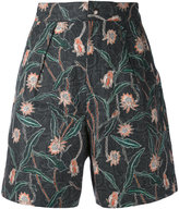 Isabel Marant floral printed shorts - women - Cotton/Linen/Flax - 38
