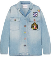 Mira Mikati Scout Appliquéd Denim Shirt - Light denim