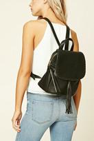 Forever 21 FOREVER 21+ Tasseled Flap-Top Backpack