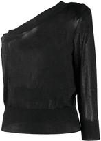 FEDERICA TOSI one shoulder speckle jumper