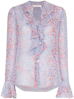 See by Chloe Patterned Ruffled Blouse