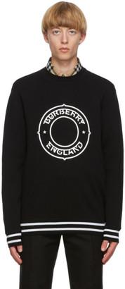 Burberry Black Wool Logo Sweater