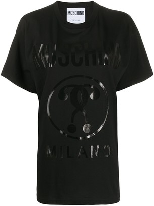 Moschino printed logo oversized T-shirt