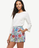 Ann Taylor Petite Jungle Floral Pleated Shorts