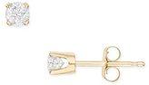 1/3 Carat Diamond Stud 14K Yellow Gold Earrings