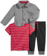First Impressions 3-Pc. Quilted Shirt, T-Shirt & Jogger Pants Set, Baby Boys (0-24 months), Only at Macy's