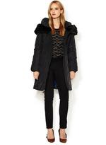 T Tahari Anna Down Puffer Coat with Faux Fur Trim