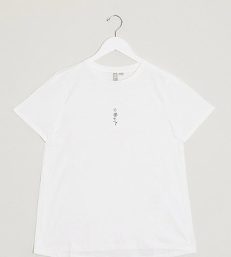 Asos DESIGN Maternity t-shirt with tiny sketchy flower motif in organic cotton