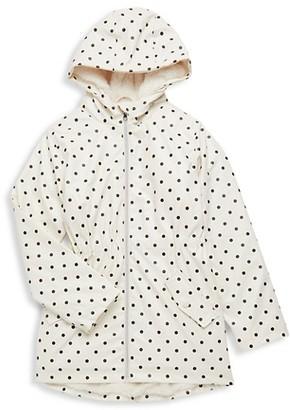 C&C California Girl's Faux Fur-Lined Raincoat
