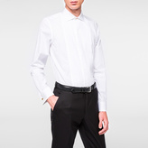 Paul Smith Men's Tailored-Fit White Poplin Evening Shirt