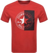 Converse Split Logo T Shirt Red