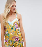 New Look Tall Floral Satin Cami Top