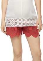 A Pea in the Pod Secret Fit Belly Lace Maternity Shorts