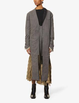 Shawl lapel woven blazer