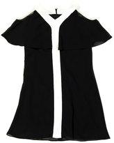 Amy Byer Black & White Cold-Shoulder Dress - Girls
