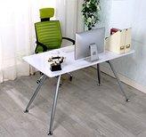 "Furnitureboxuk White ""Angelo"" High Gloss Computer Home Executive Study Office Workstation Desk"