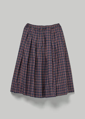 Comme des Garcons BLACK Women's Tartan Check Skirt in Navy Size XS 100% Cotton