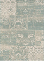 """Couristan Afuera Indoor/Outdoor Country Cottage Sea Mist-Ivory 2'2"""" x 11'9"""" Runner Area Rug"""