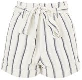 Topshop Stripe paper bag shorts
