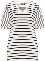 Via Appia Plus Size Striped t-shirt