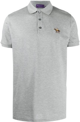 Ralph Lauren Purple Label Embroidered Cotton Polo Shirt