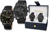 Akribos XXIV Men's Chronograph Leather and Mesh Set