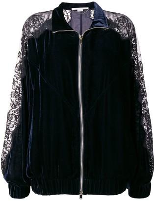 Stella McCartney lace embroidered bomber jacket