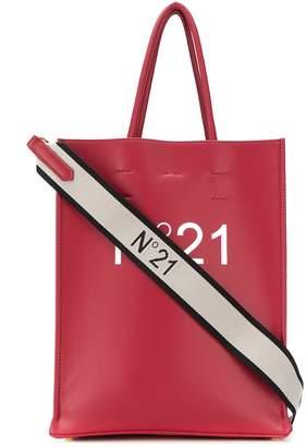No.21 Small Logo Print Tote