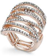 Thalia Sodi Pavé Crisscross Statement Stretch Ring, Created for Macy's
