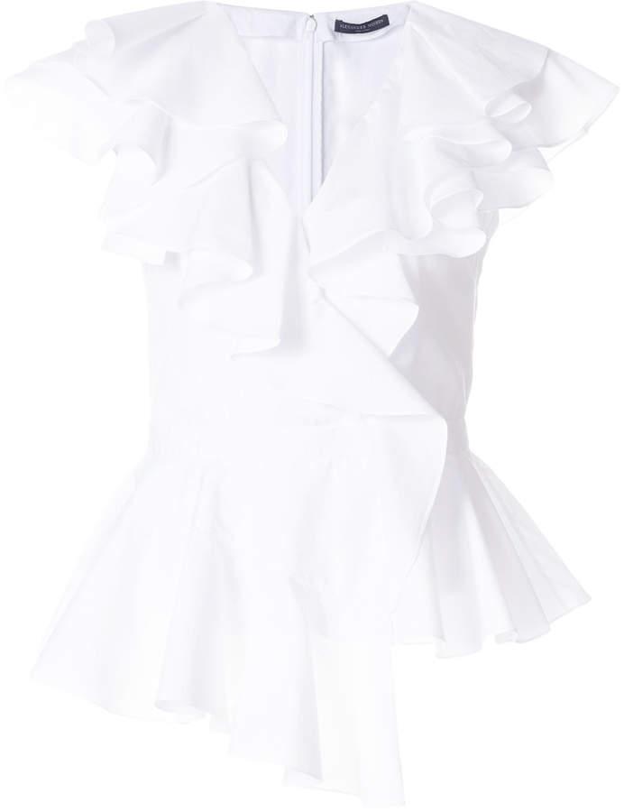 Alexander McQueen shortsleeved ruffle blouse