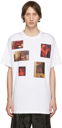 Raf Simons White Six Picture Big Fit T-Shirt