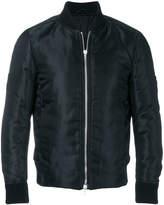Attachment zip up bomber jacket