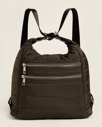 Sondra Roberts Quilted Nylon Convertible Backpack