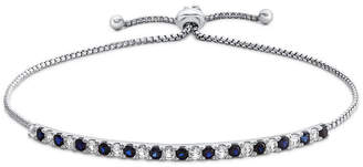 FINE JEWELRY Lab Created Blue Sapphire Sterling Silver Bolo Bracelet