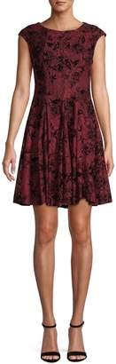 Gabby Skye Floral Lace Mini Dress