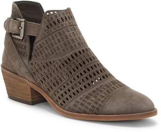 Paavani Perforated Buckled Ankle Boot