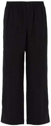 COMMAS Straight Leg Linen Trousers - Mens - Black