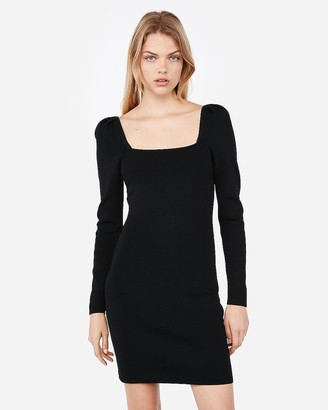 Express Negin Mirsalehi Fitted Puff Sleeve Dress