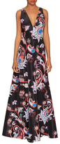 Mary Katrantzou Thistle Printed Cut Out Gown