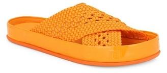 Fendi Reflection Crisscross Slide Sandals