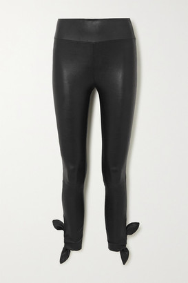 Sprwmn Knotted Leather Leggings - Black